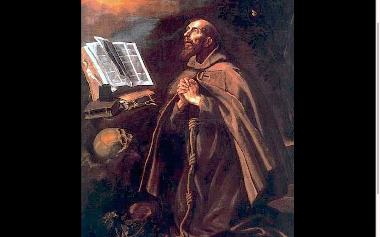 an Pedro Alacantara. Luis Tristán. Palacio del Archi episcopal. Toledo.