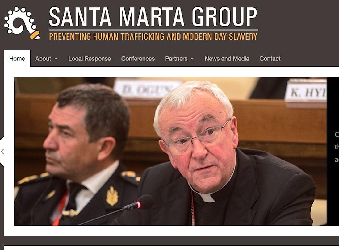 La web del Grupo Santa Marta contra la trata de seres humanos
