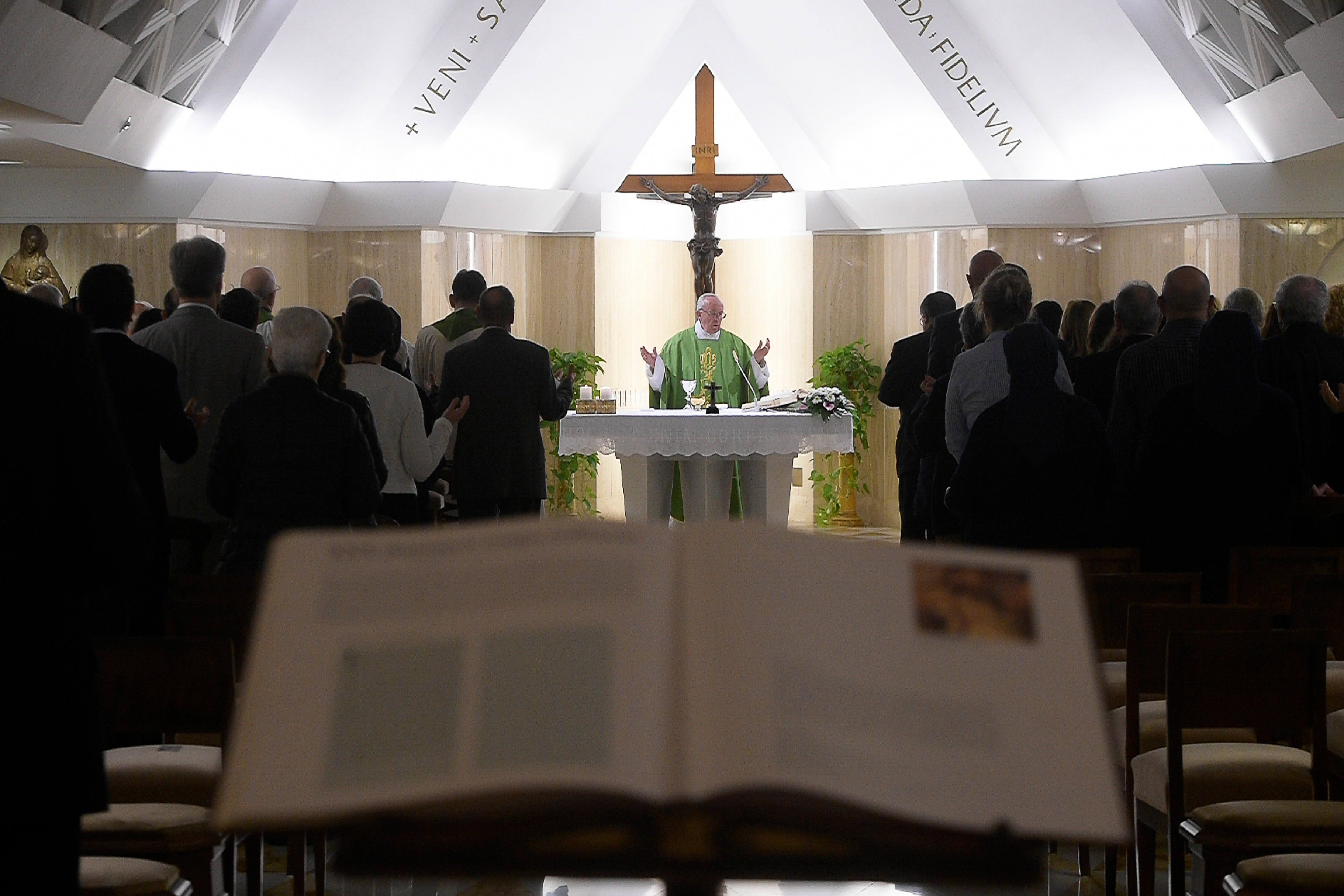 Misa del Papa en Santa Marta (Osservatore © Romano)