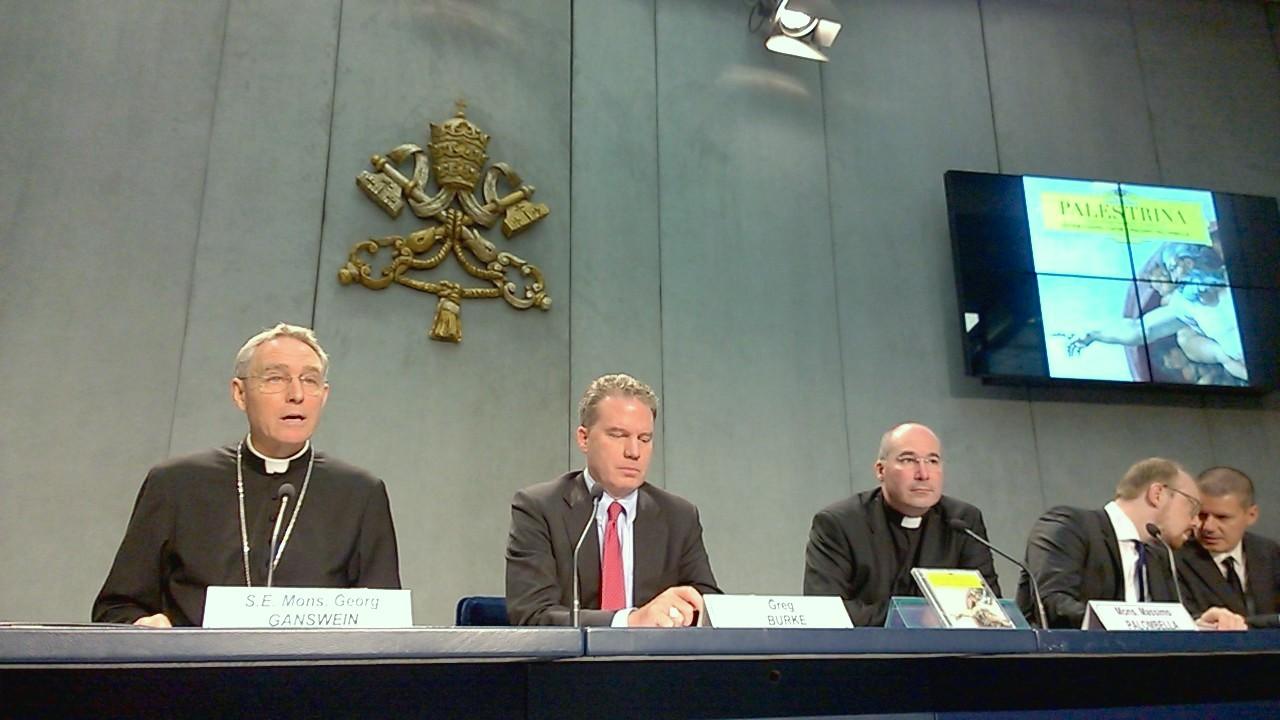 Sixtina presentación CD en la sala de prensa del Vaticano