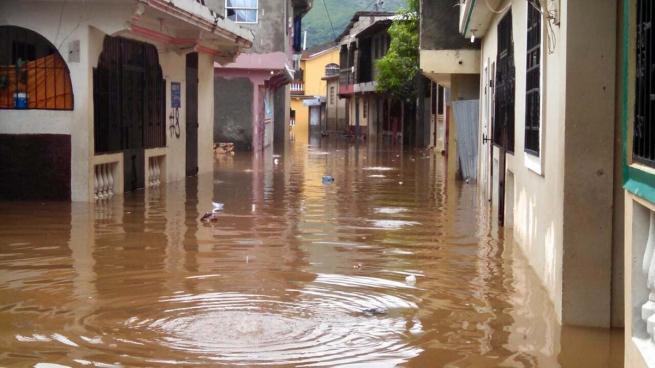 Inundaciones en el norte de Haití (Foto Ans)