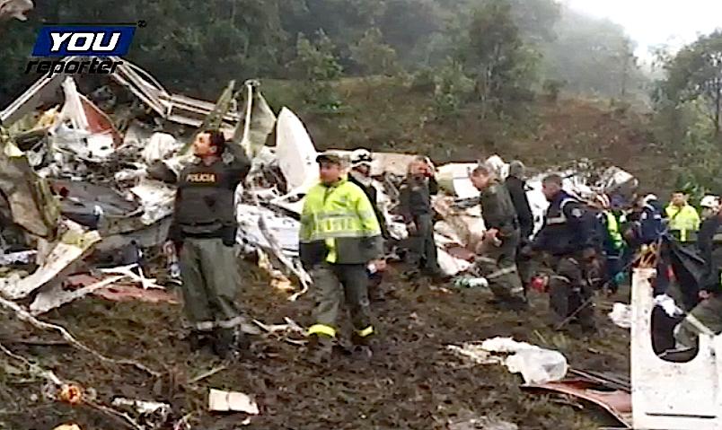 Accidente aereo en Colombia (Fto. Youreporter.it)