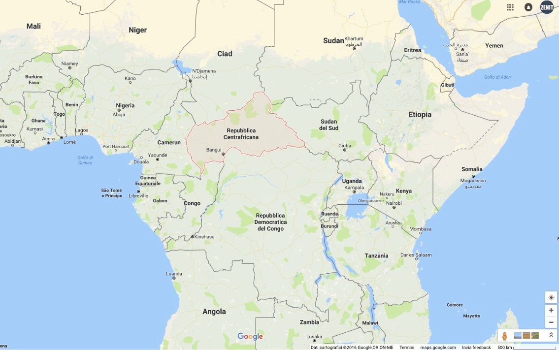 Africa Central - (Google maps)