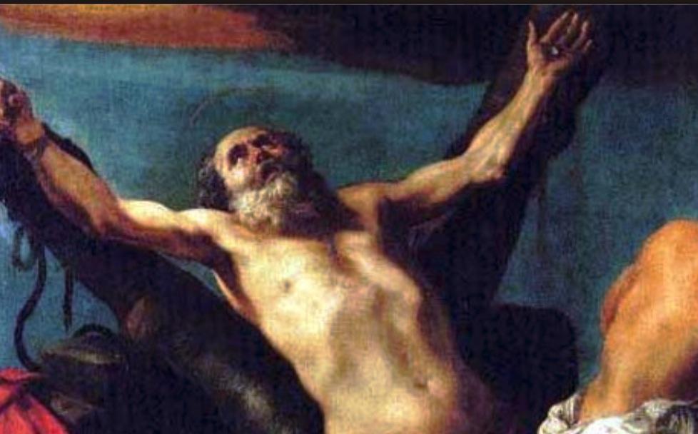 San Andrés, cuadro de Claude Vignon, siglo XVII, Chiesa nuova, Lleida