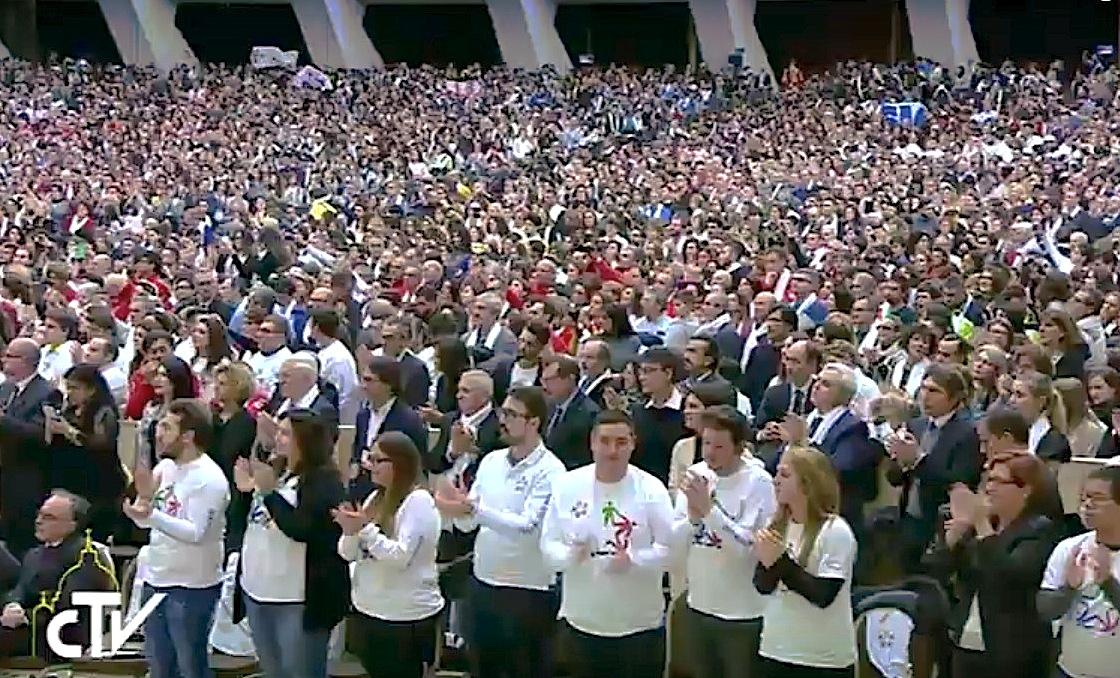 El Papa con los voluntarios del Servicio Civil Italiano