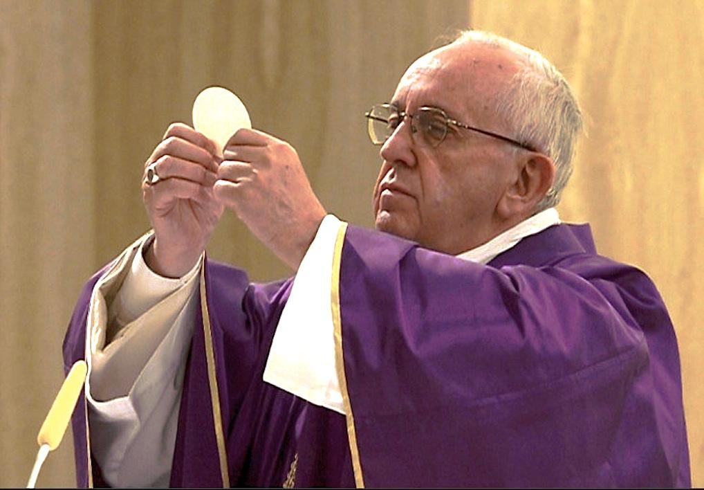 El Papa en Santa Marta (fto. Oss. Romano ©)