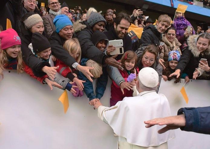 El Papa en el Swedbak de Malmo (Fto © Osservatore Romano).