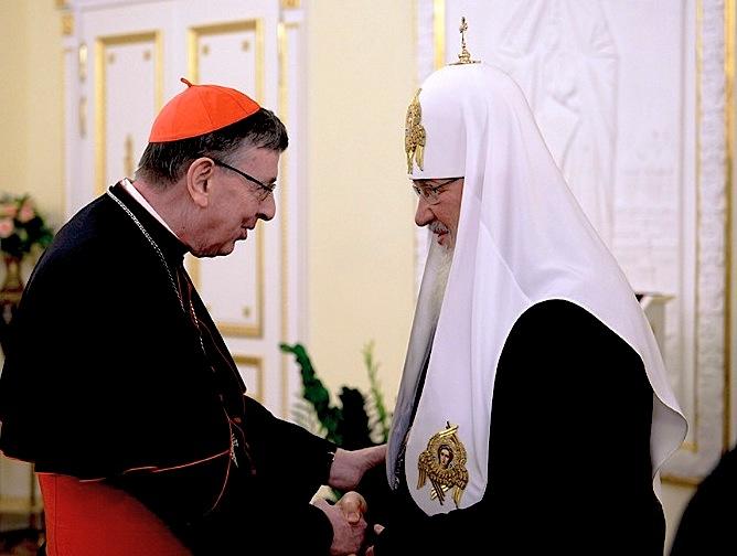 El cardenal Koch y el patriarca Kirill mospat.ru