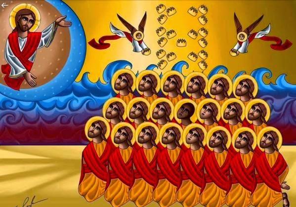 Icono de los 21 cristianos coptos asesinados por terroristas del califato islámico