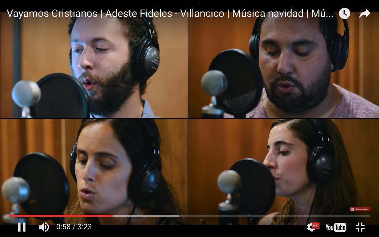 Fundación Canto Cristiano grabando