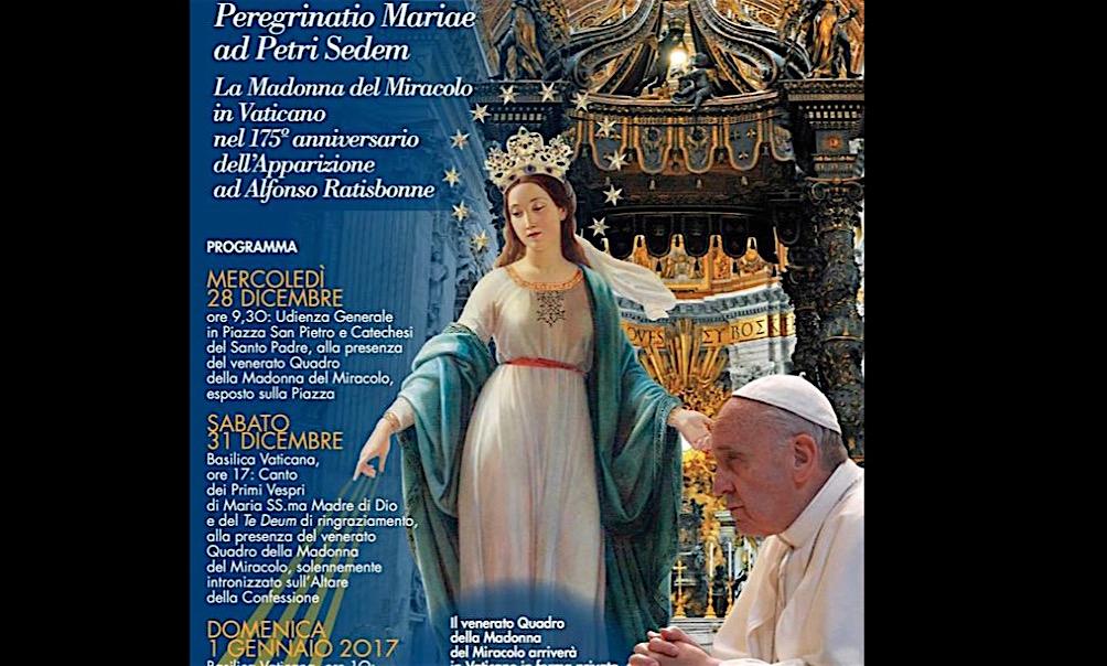 El cuadro de la Madonna del Miracolo va a la basílica de San Pedro