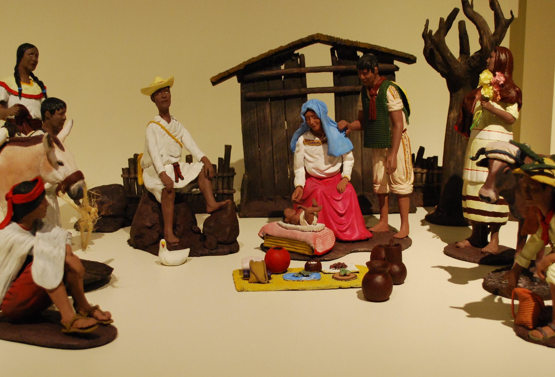 Pesebre indígena - Museo de Arte Popular -Mexico City - Wikicommons cc - Thelmadatter