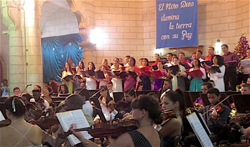 El concierto de Navidad de la Sinfónica de Holguín (Fto. arquidiócesis de Holguín)