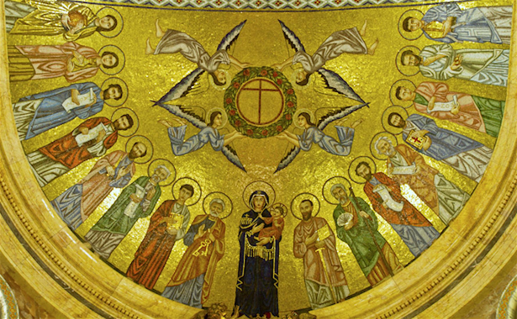 Bóveda de la iglesia prelaticia del Opus Dei en Roma
