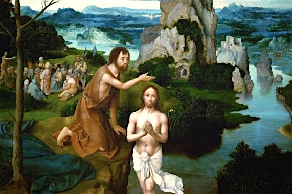 El Bautismo de Cristo.1510-1520 Joachim Patinir