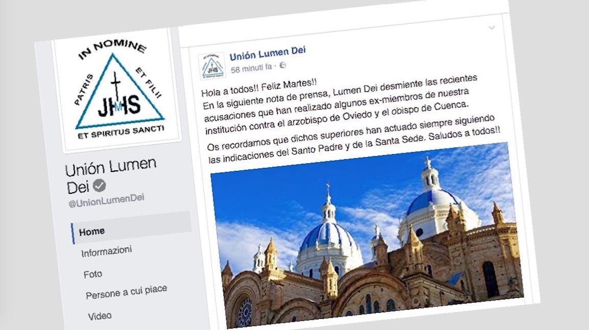 Lumen Dei en facebook