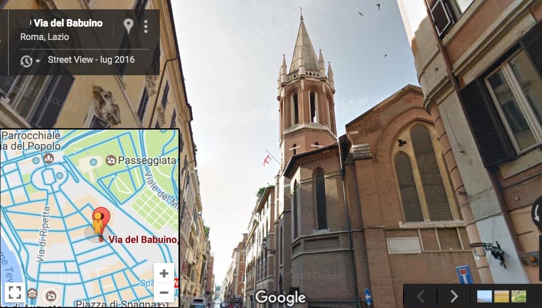 La Iglesia anglicana en la ciudad de Roma