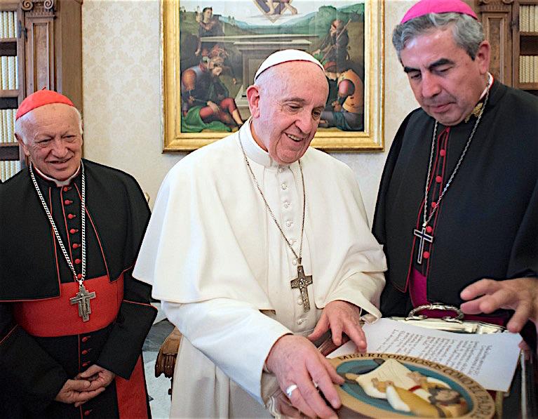 Con el Santo Padre durante la visita ad limina (Fto Osservatore © Romano)