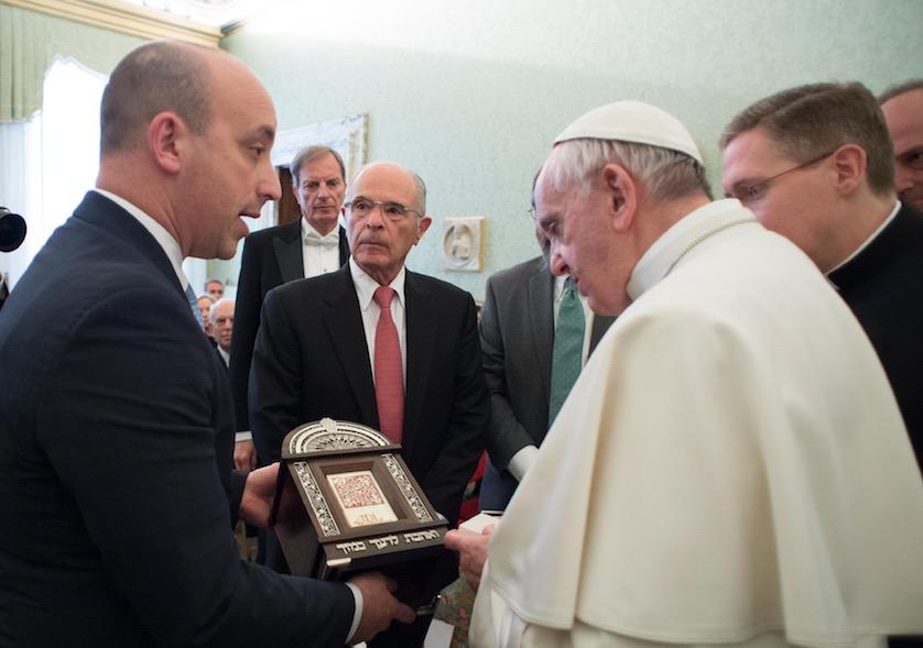 El Papa con la Liga antidifamación (Foto©Osservatore Romano)