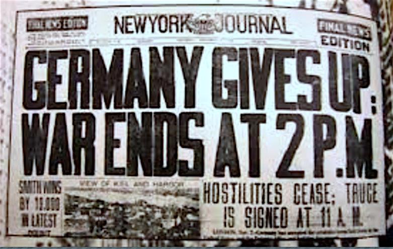 Los diarios anunciaron el final de la II Guerra Mundial