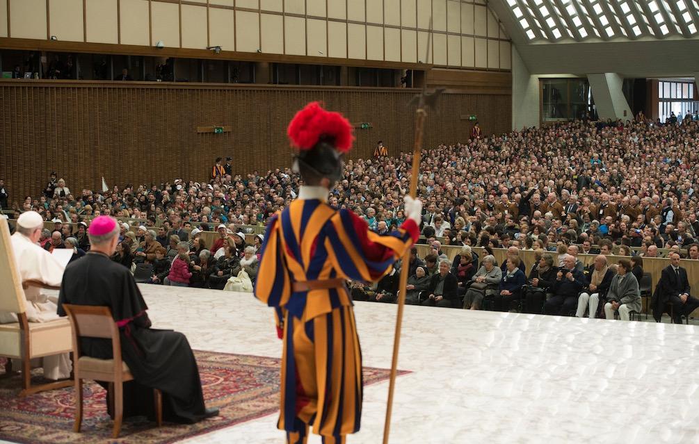 La audiencia del 15 de febrero de 2017 en el Aula Pablo VI en el Vaticano