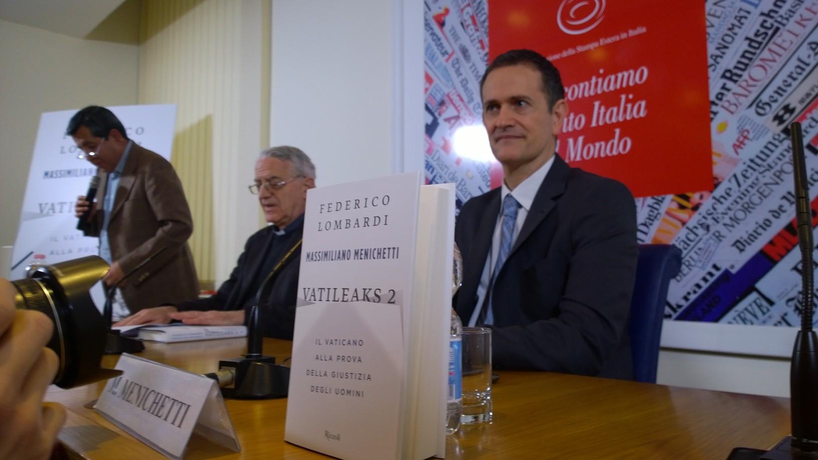 Libro Vatileaks 2, presentación en la Stampa Estera (Foto ZENIT cc)