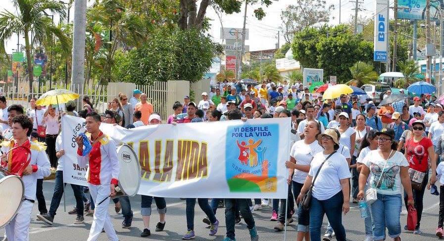 Marcha por la Vida en Managua (Fto. Arch. Managua)