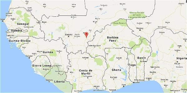 Malí en el mapa de África