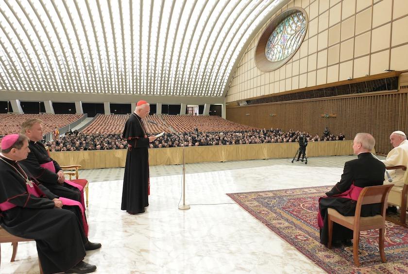 Audiencia del papa Francisco a los participantes del curso de la Penitenciería apostólica (Foto Osservatore © Romano)