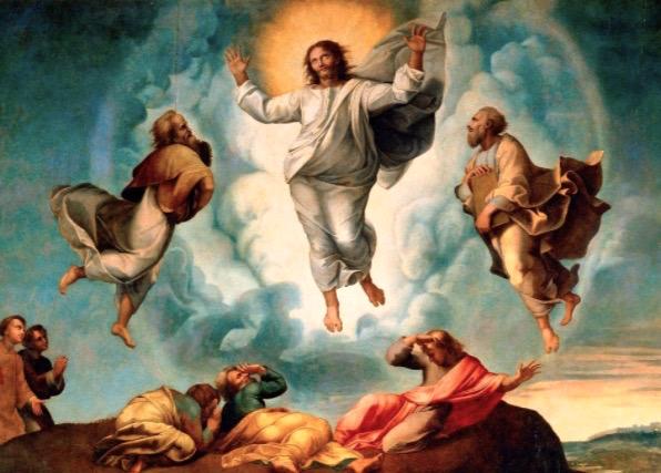 Jesús en el Tabor (Rafael, Museos Vaticanos)