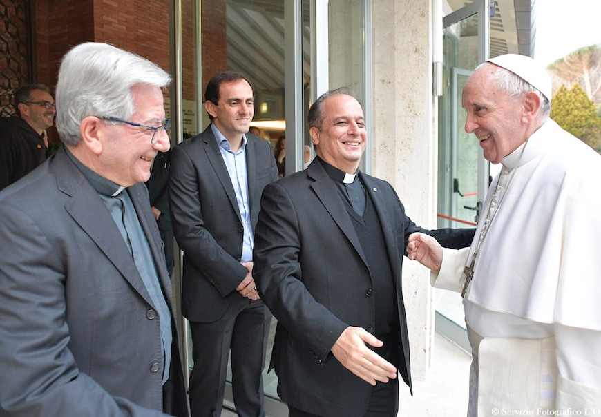 La llegada del Papa a la casa de retiros en Ariccia (Fto Osservatore © Romano)