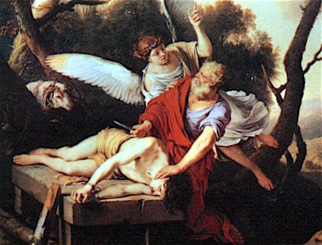 Sacrifico Abram - Cuadro de De Laurent De La Hire