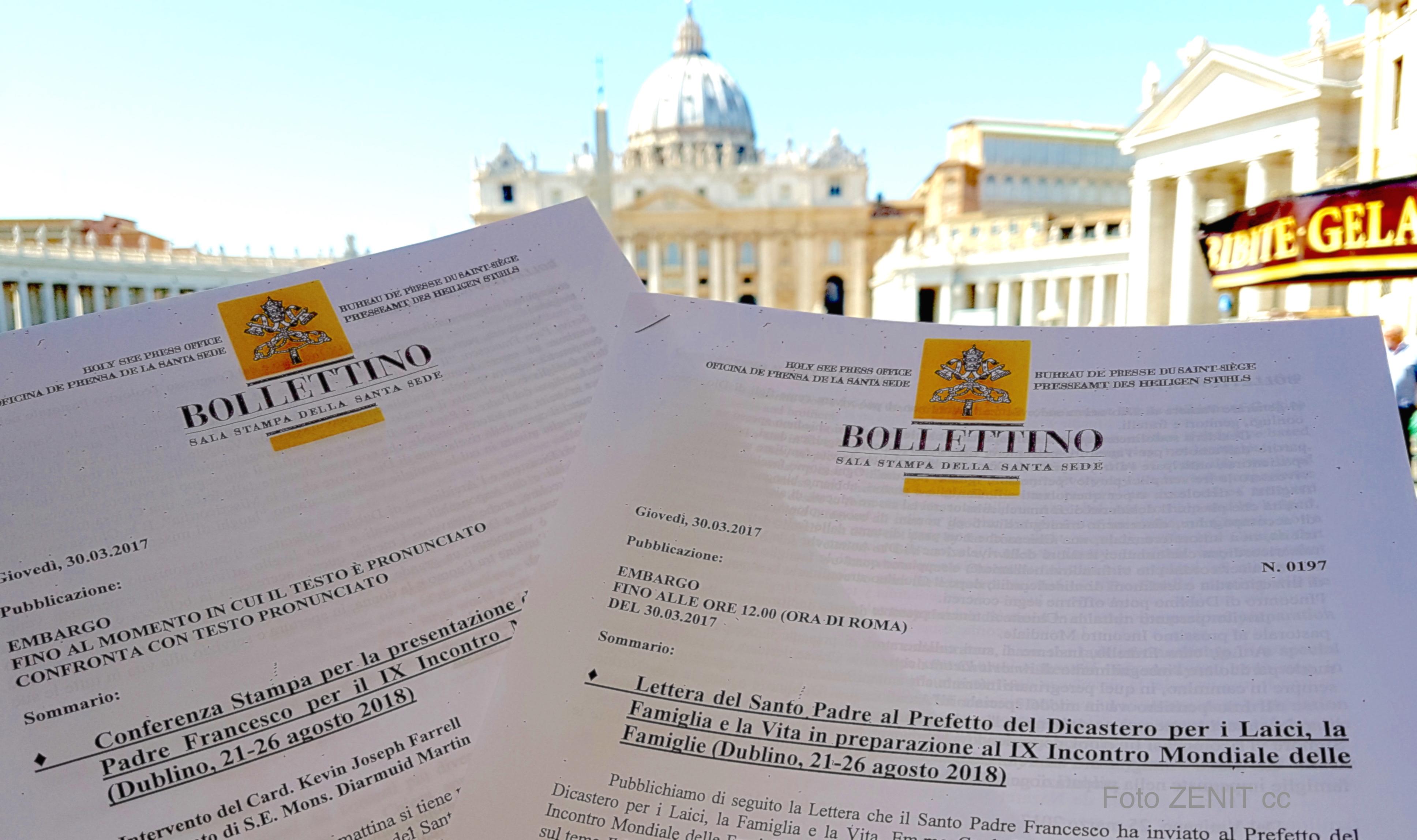 La Carta y textos divulgados por la Santa Sede