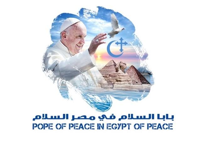 El logo del viaje del Papa a Egipto
