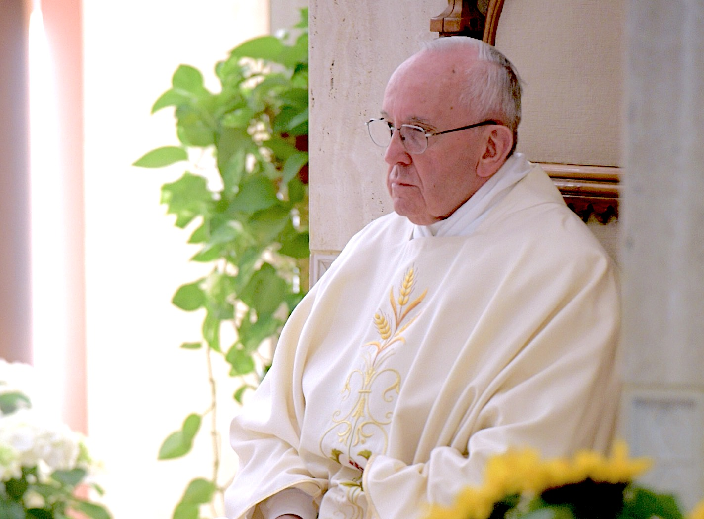 El Santo Padre en Santa Marta (Osservatore @ Romano)