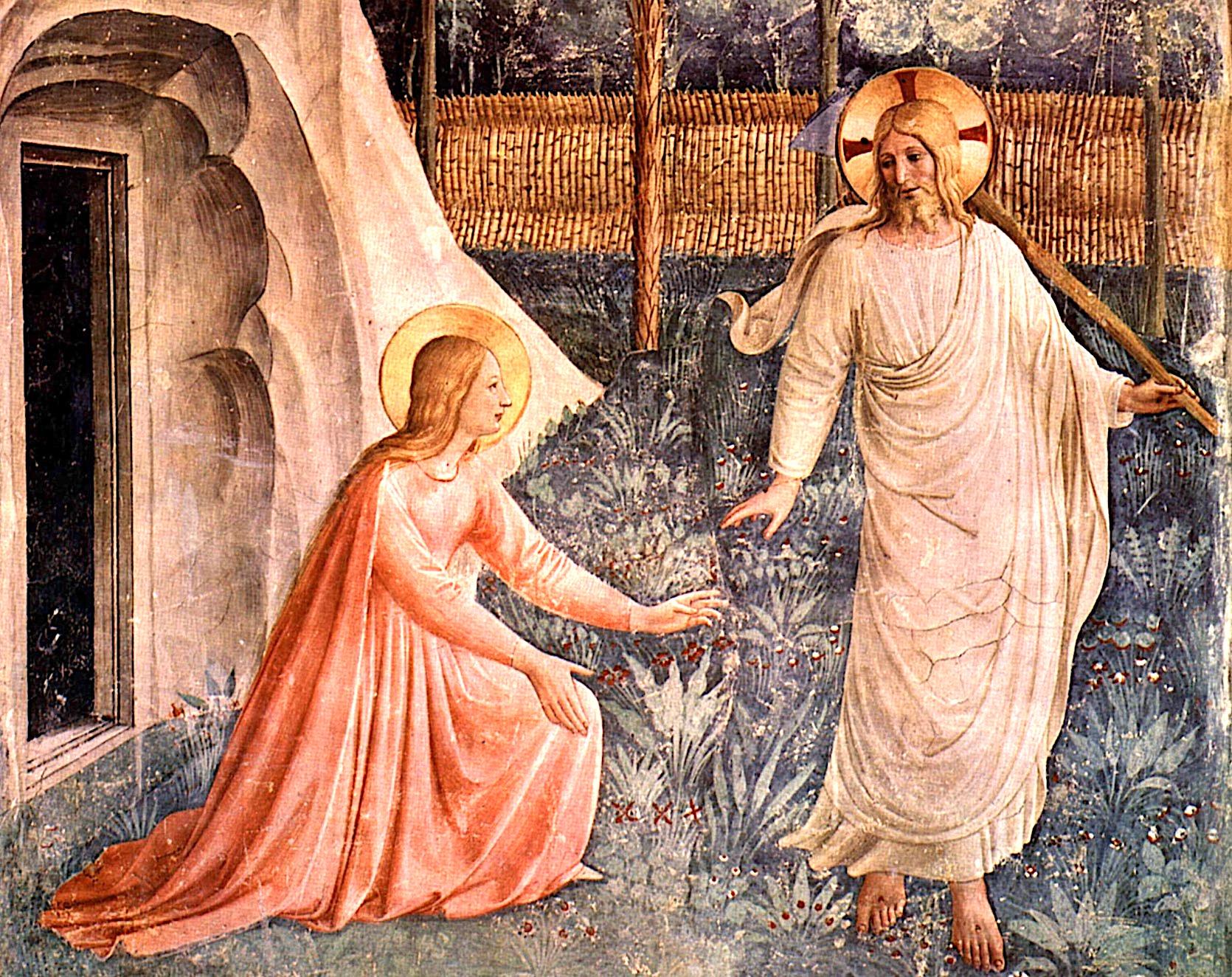 Fra angelico Jesús y María Magdalena en el sepulcro (Fra Angelico)
