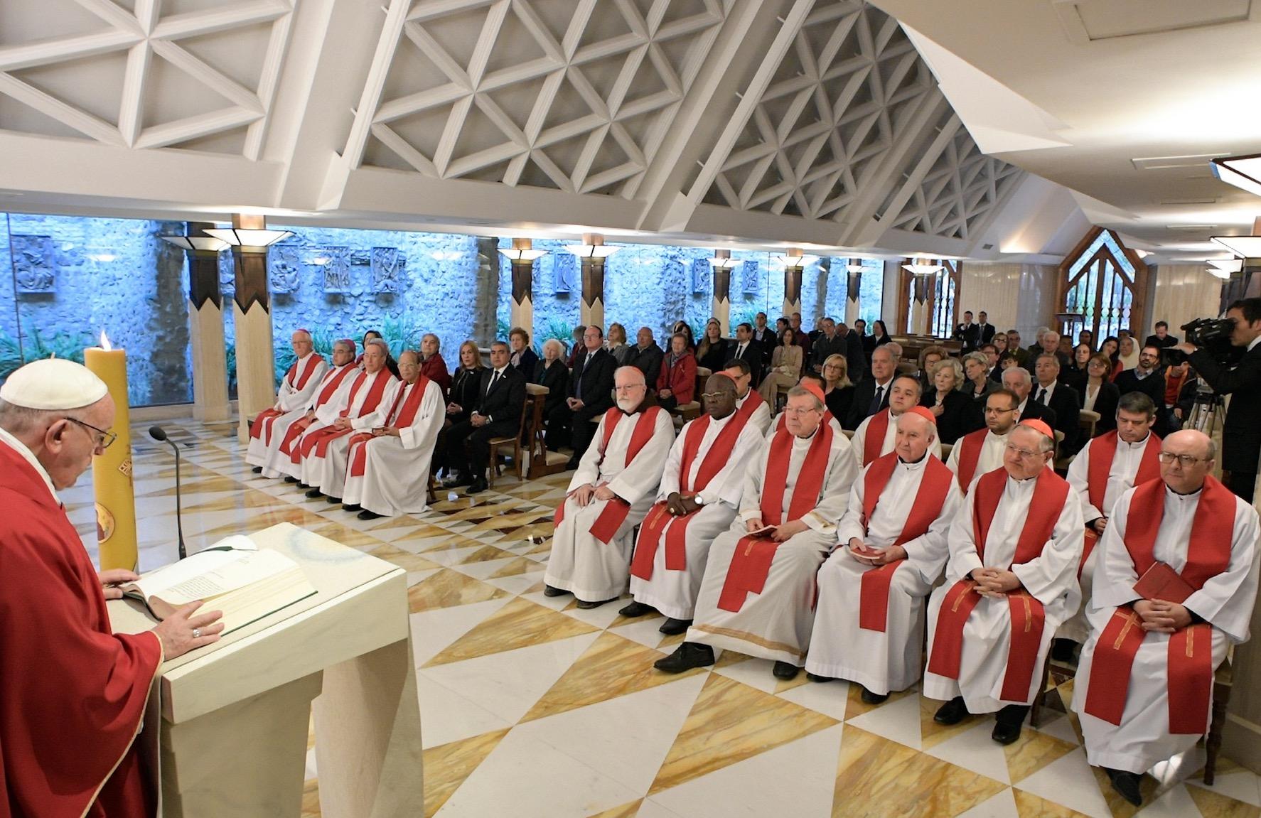 Misa en Santa Marta (Oss. © Romano)