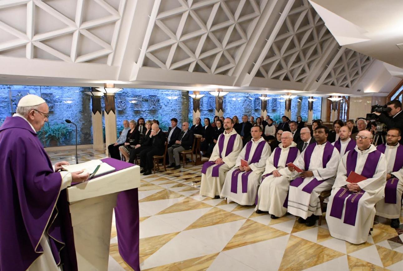 Misa en Sta Marta, 6 de abril de 2017 (Osservatore © Romano)