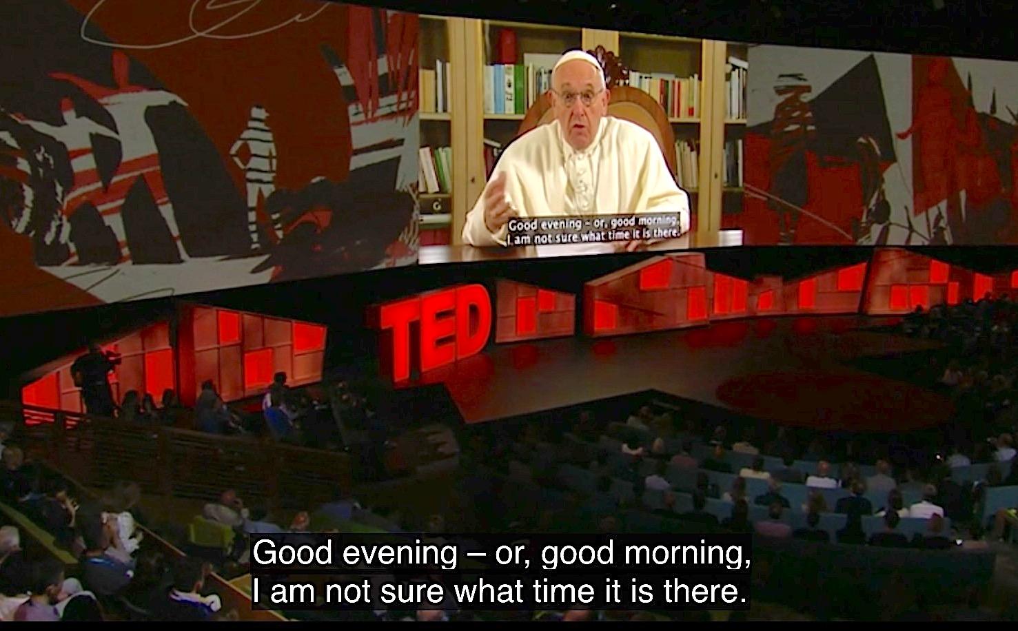 El video del Papa para el TED de Canadá