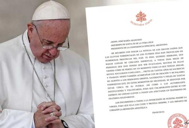 La noticia en la web de la Conferencia Episcopal Argentina