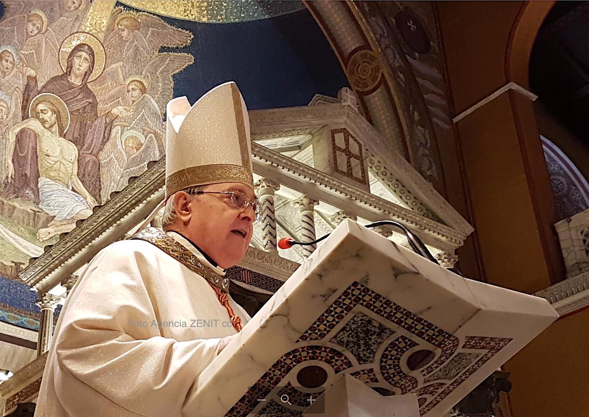 El cardenal Leonardo Sandri durante la homilía en la Iglesia de los argentinos en Roma (Fto. ZENIT cc)