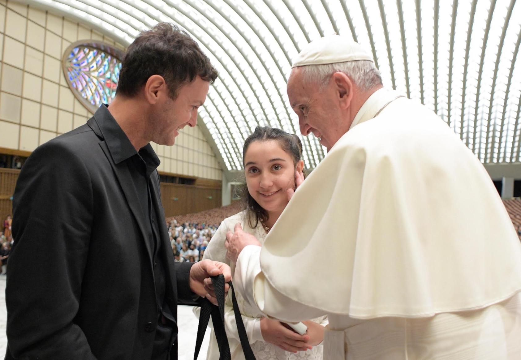 El Papa con los enfermos de Huntington © L´Osservatore Romano