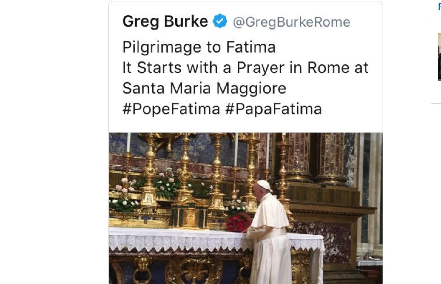 Tweet de Greg Burke