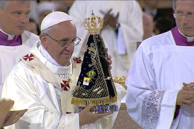 Papa Francisco en Aparecida, 2013, CTV