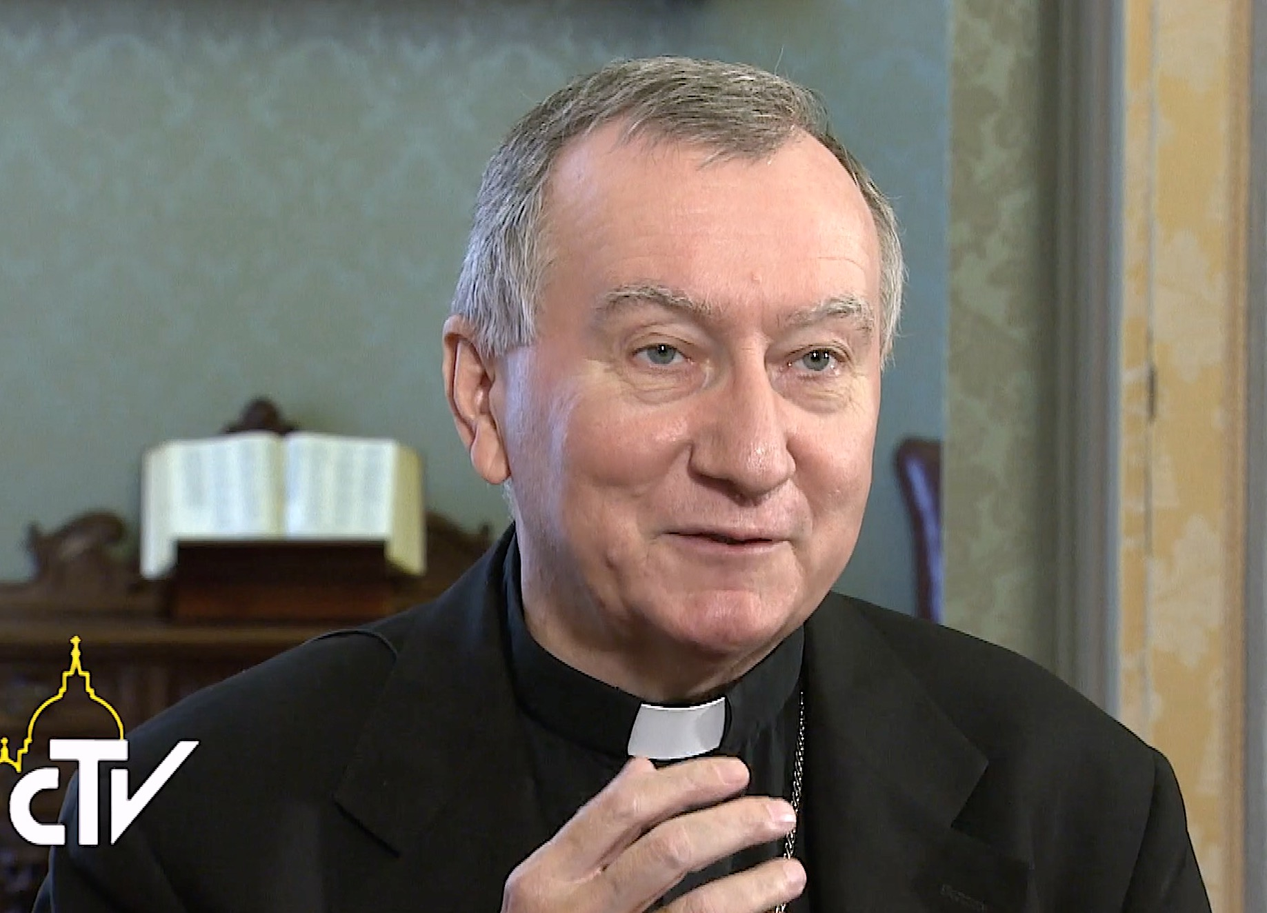 Cardenal Pietro Parolin. Captura de pantalla CTV
