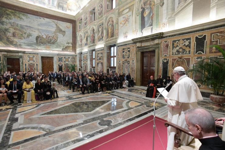 Audiencia con la Red Internacional de Legisladores Católicos © Osservatore Romano