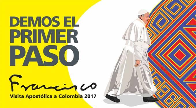 Logo oficial del viaje del Papa Francisco a Colombia