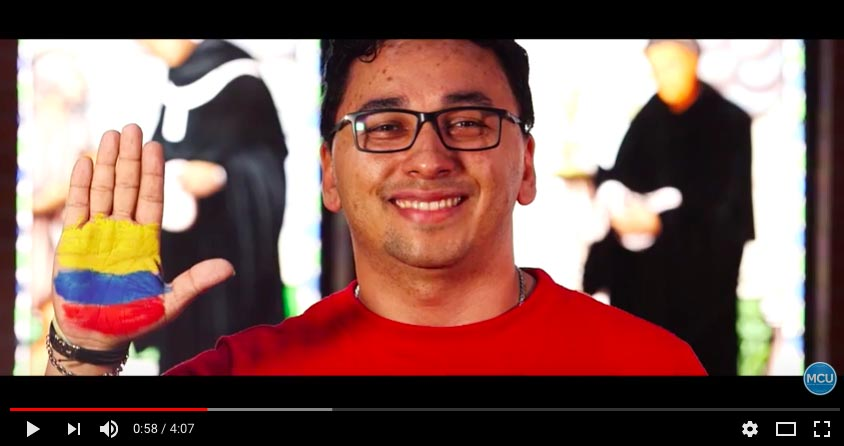 Videoclip himno Colombia. Captura de pantalla YouTube