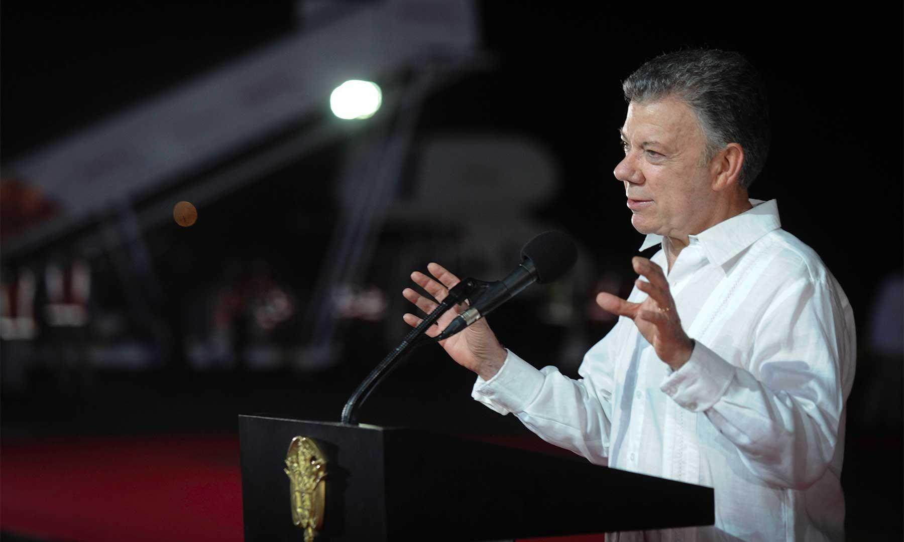 El presidente Santos recordó las palabras del Papa © Presidencia de Colombia