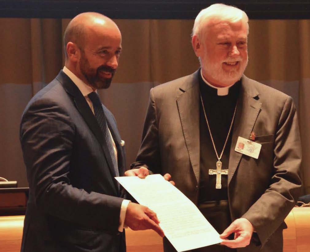 Firma del Tratado sobre la Prohibición de las Armas Nucleares, 20 de septiembre de 2017 © Santa Sede